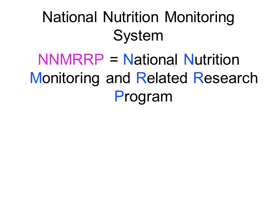 National Nutrition Monitoring System