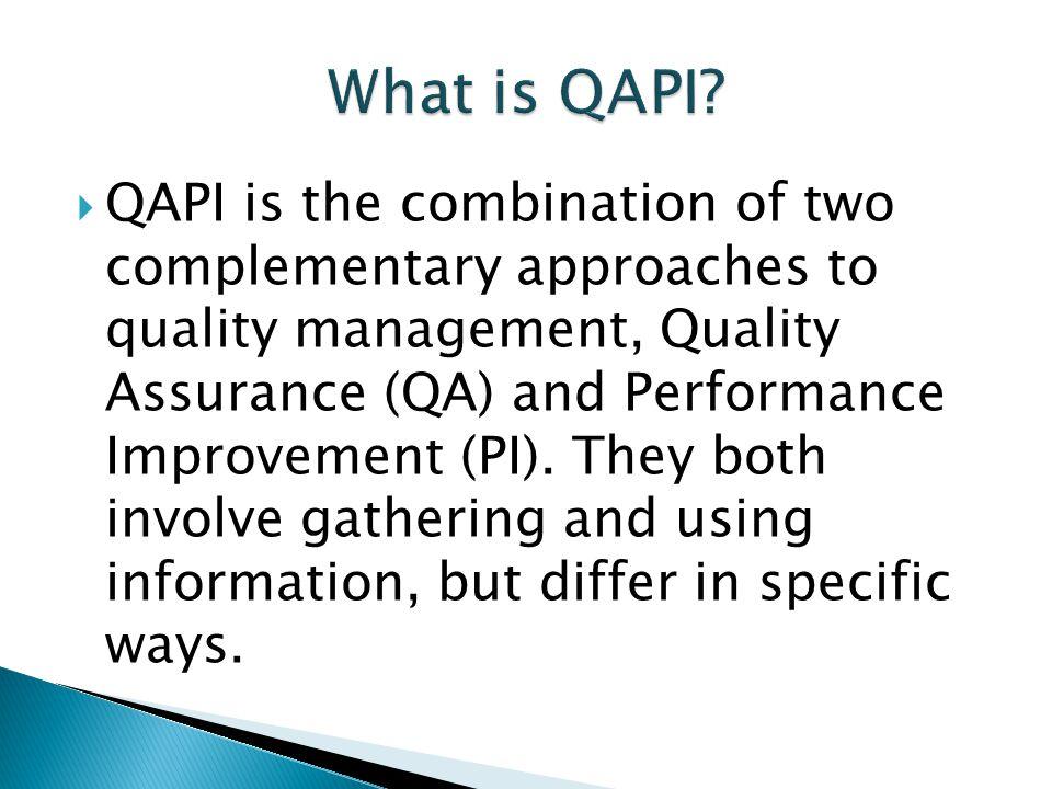 What is QAPI