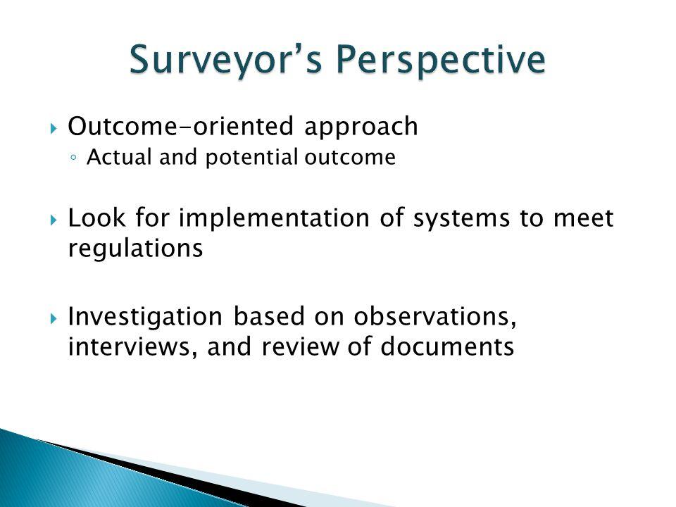 Surveyor's Perspective