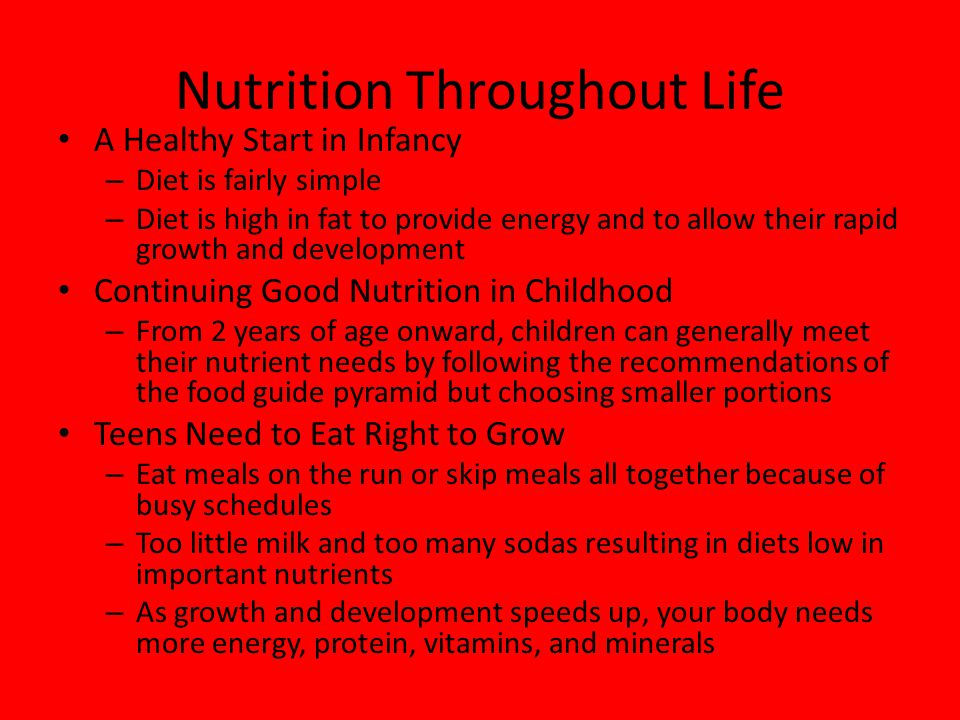 Nutrition Throughout Life