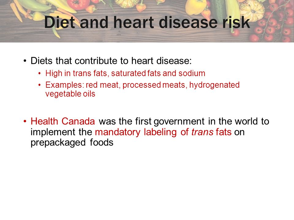 Diet and heart disease risk