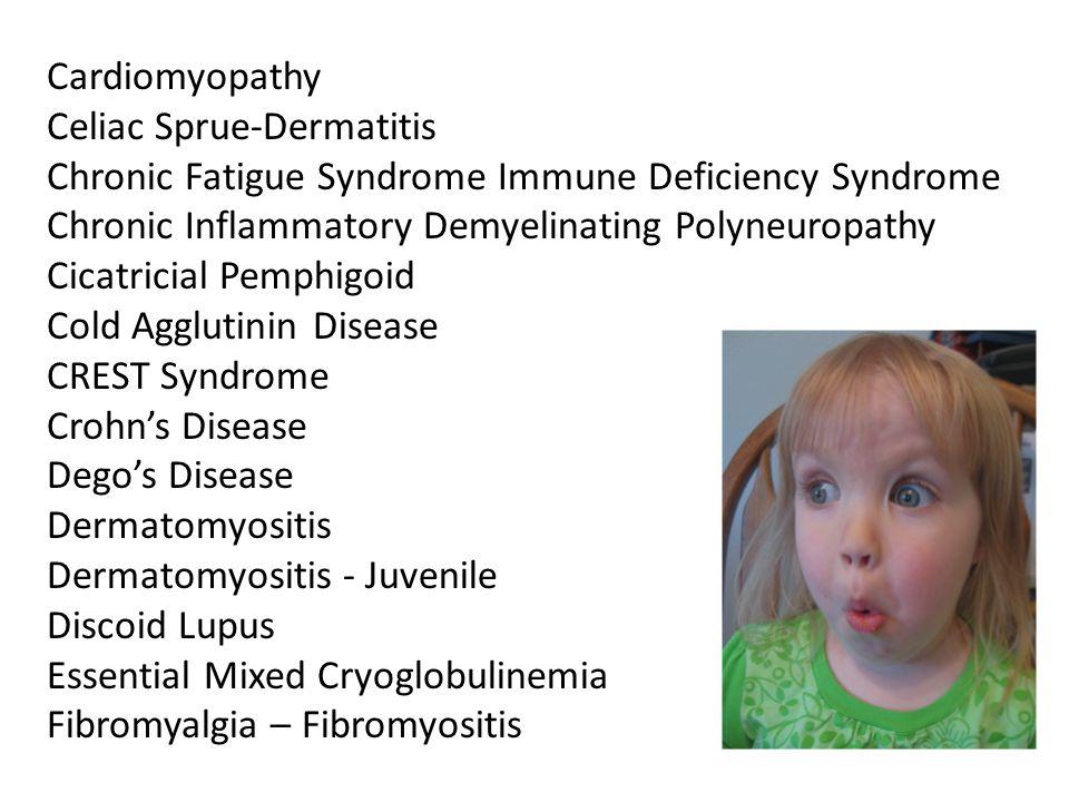 Cardiomyopathy Celiac Sprue-Dermatitis