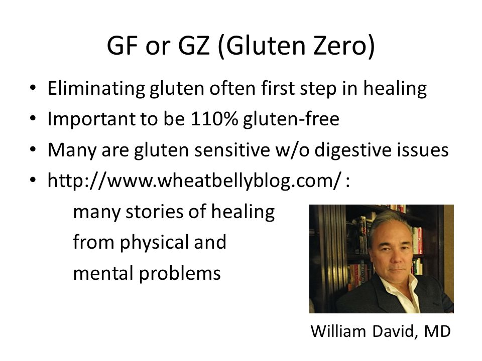 GF or GZ (Gluten Zero) Eliminating gluten often first step in healing