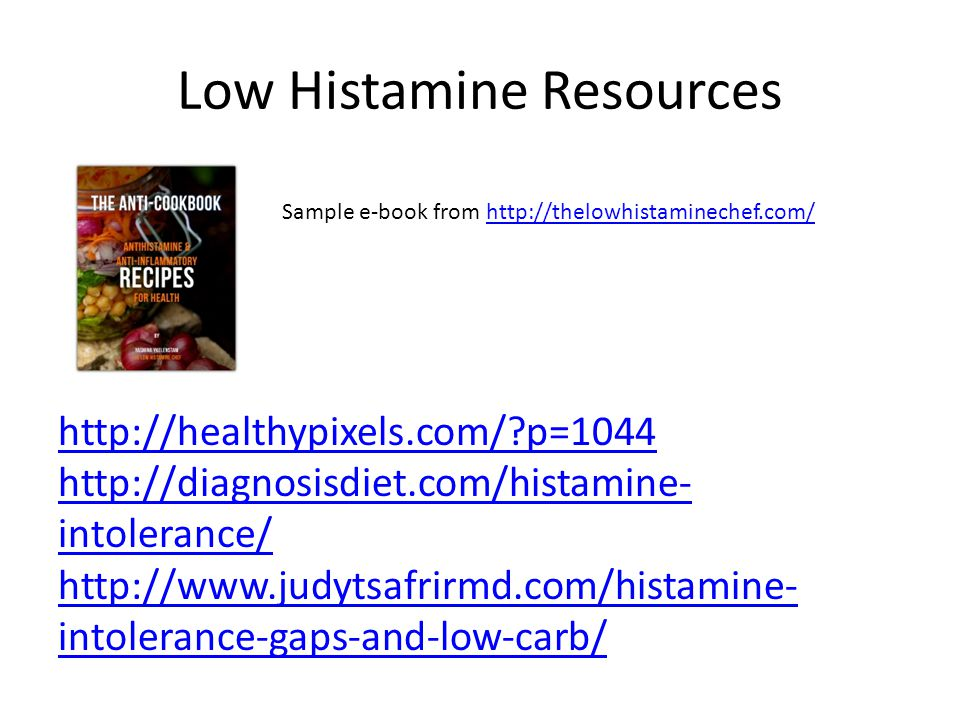 Low Histamine Resources