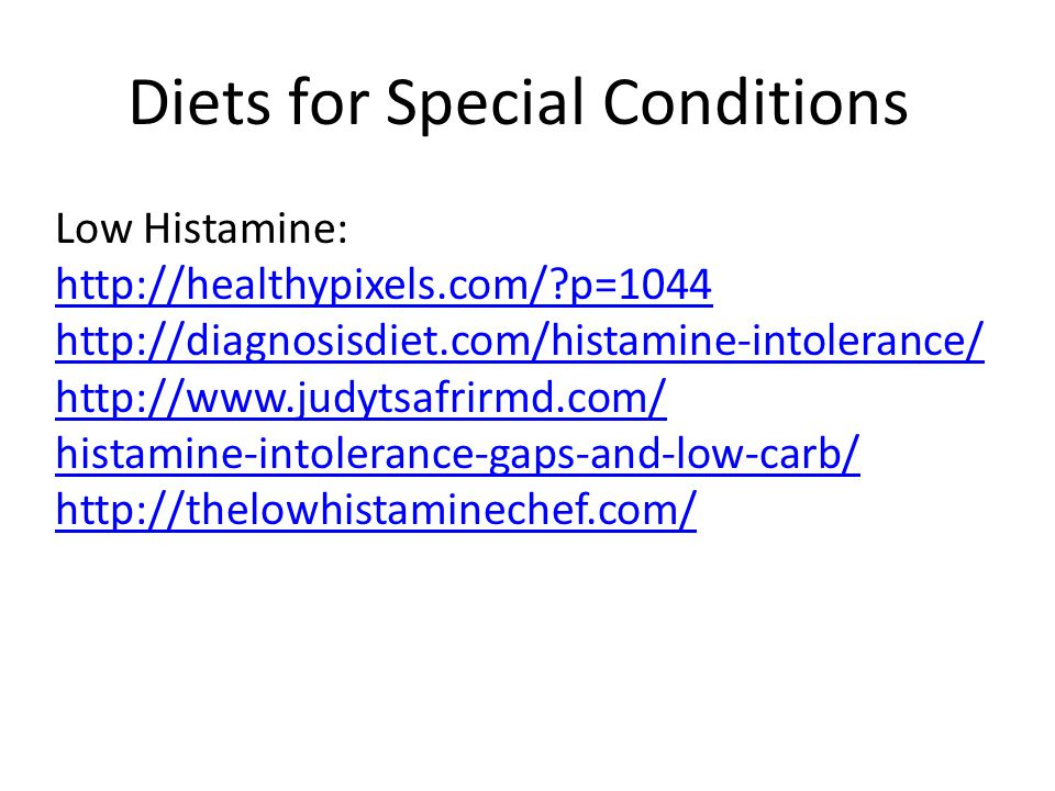 Diets for Special Conditions