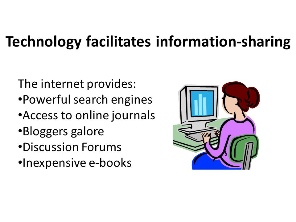 Technology facilitates information-sharing