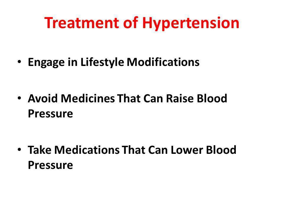 Treatment of Hypertension