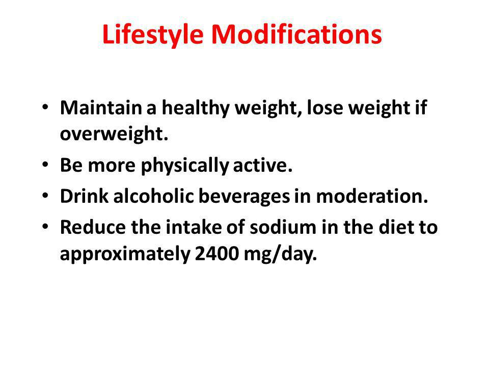 Lifestyle Modifications