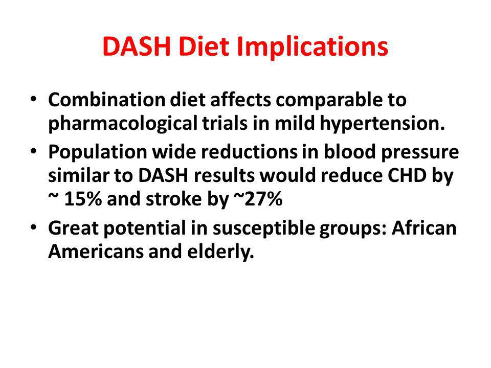 DASH Diet Implications