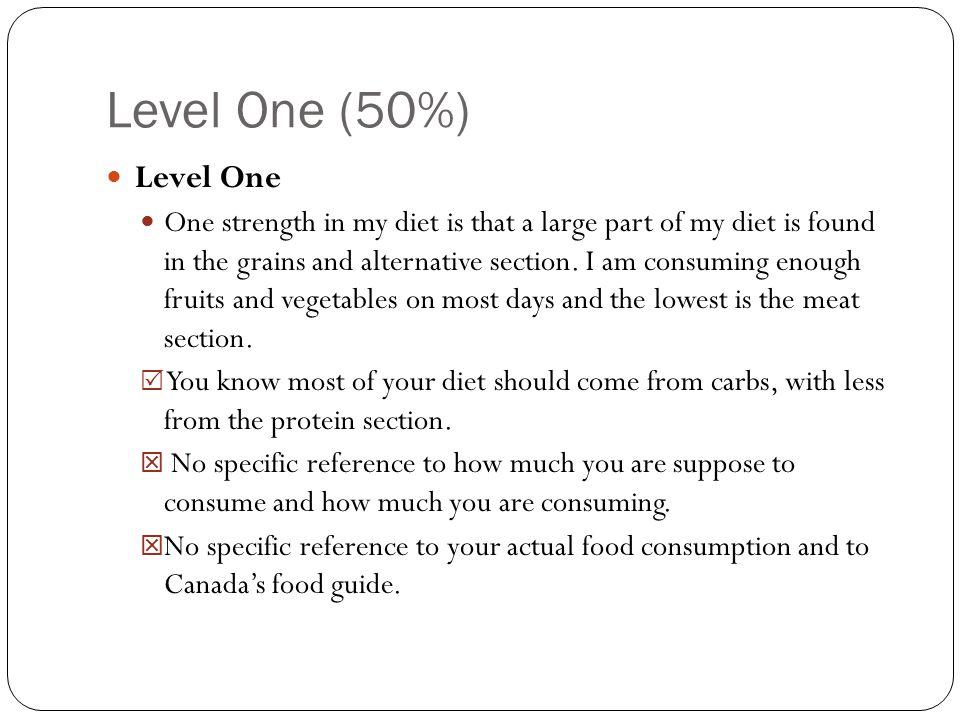 Level One (50%) Level One.