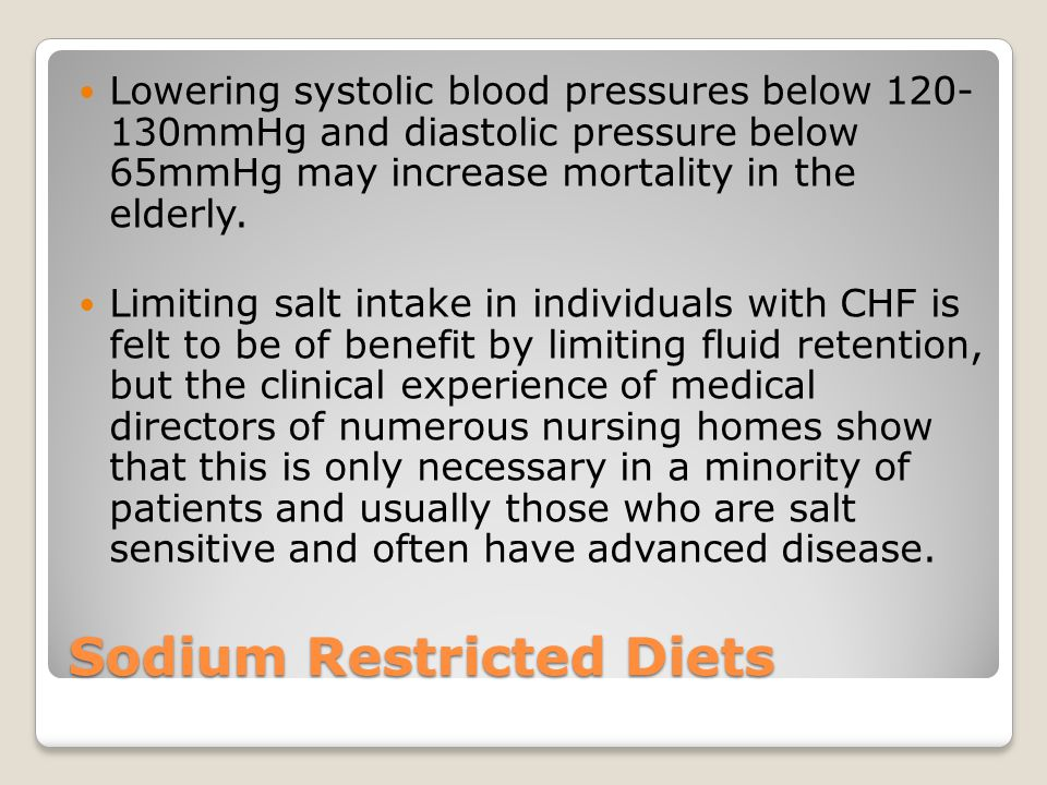 Sodium Restricted Diets