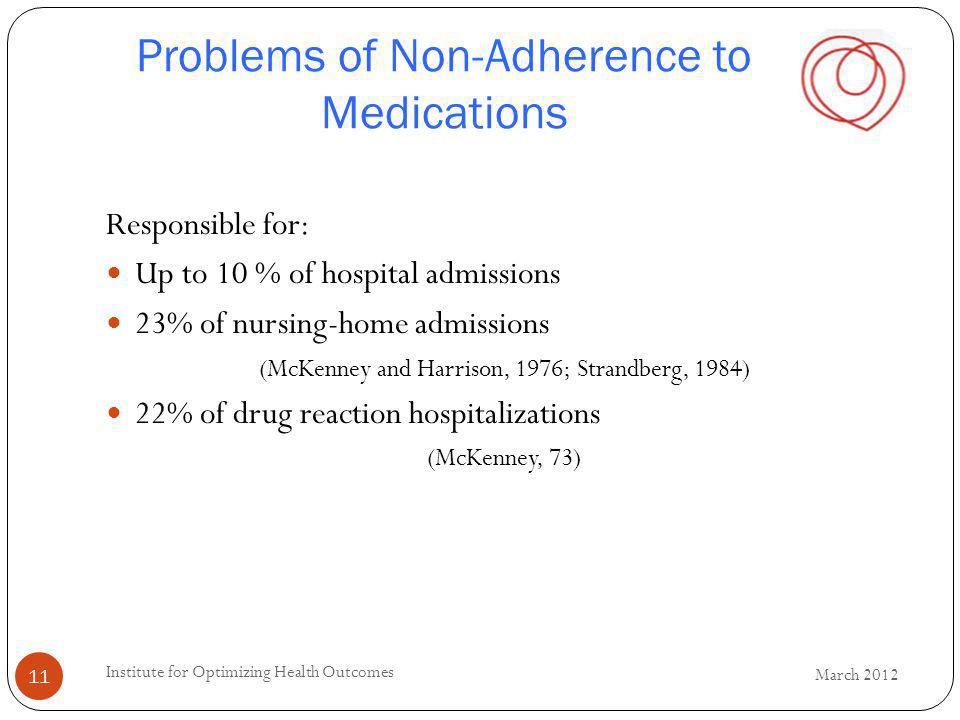 Problems of Non-Adherence to Medications