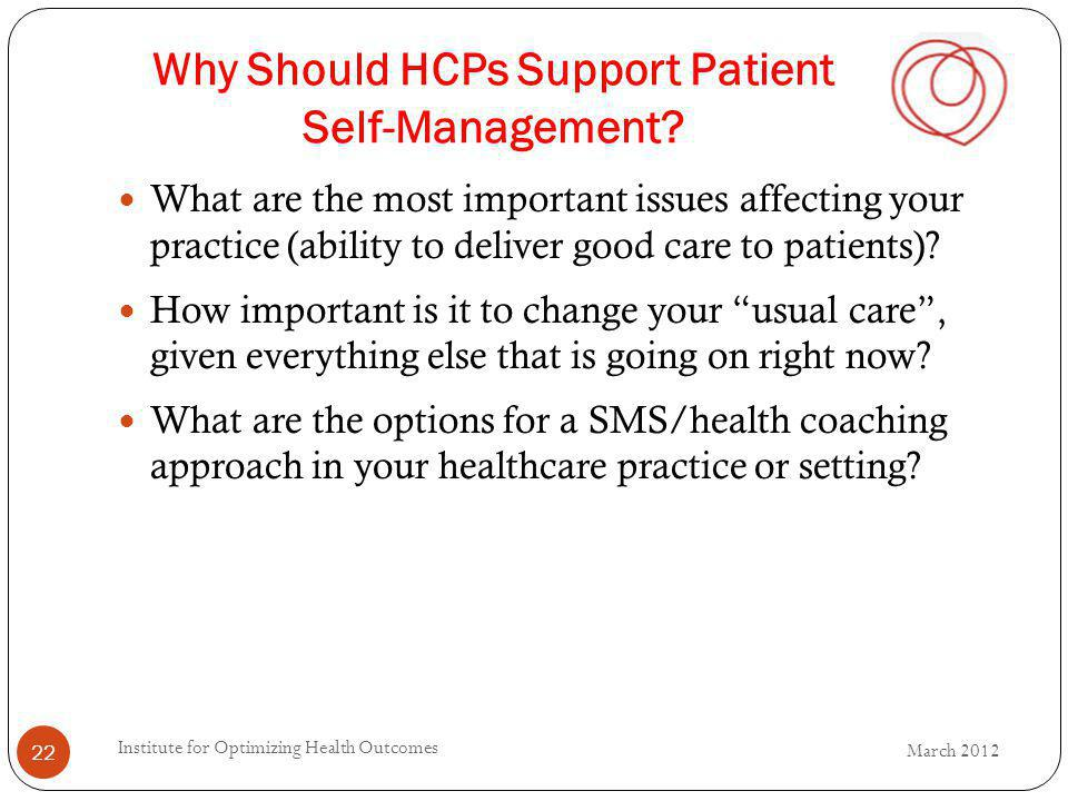 Why Should HCPs Support Patient Self-Management