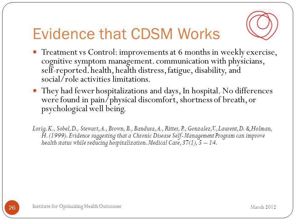 Evidence that CDSM Works