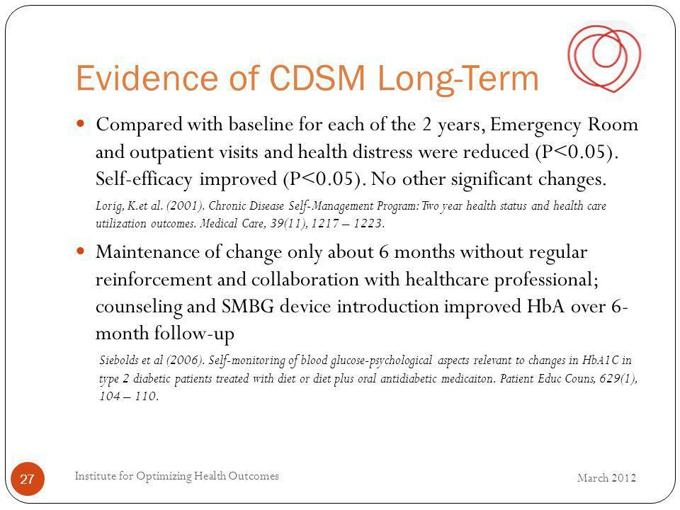 Evidence of CDSM Long-Term