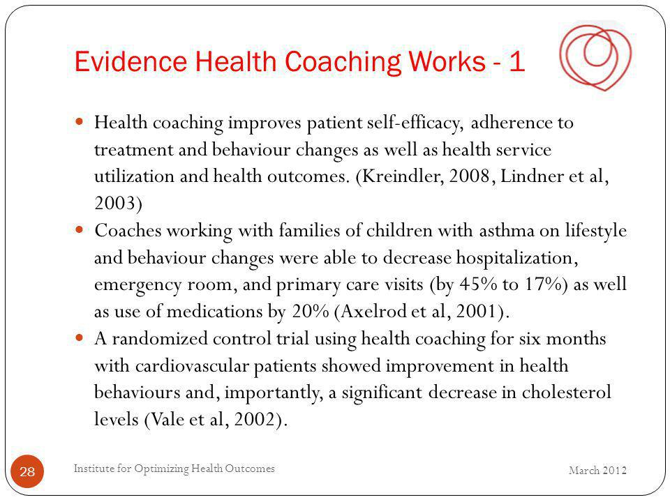 Evidence Health Coaching Works - 1