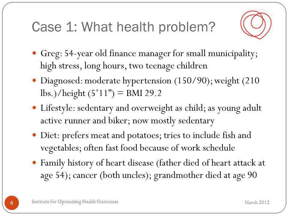 Case 1: What health problem