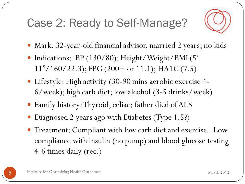 Case 2: Ready to Self-Manage