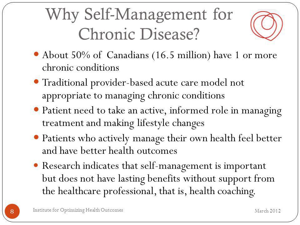 Why Self-Management for Chronic Disease