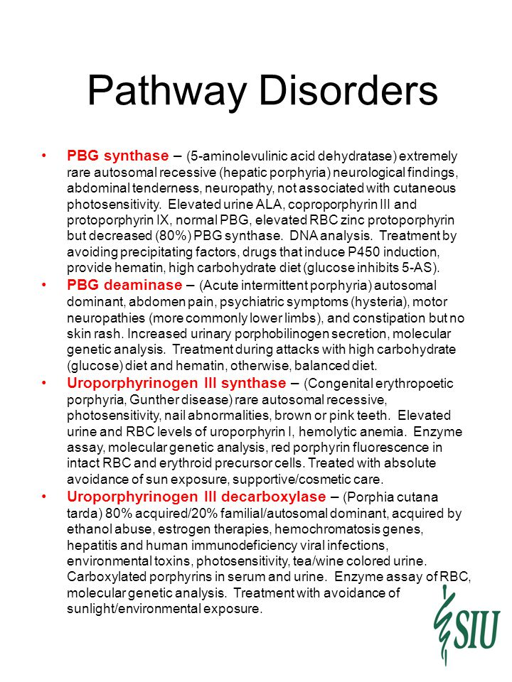 Pathway Disorders