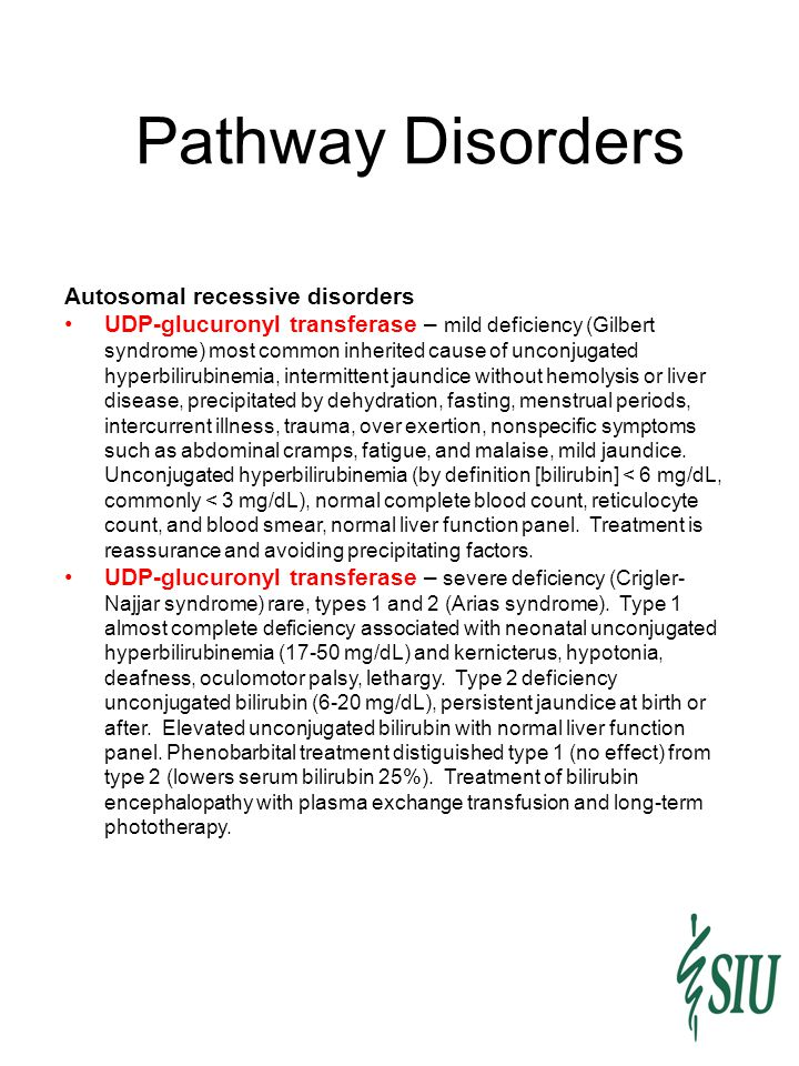 Pathway Disorders Autosomal recessive disorders