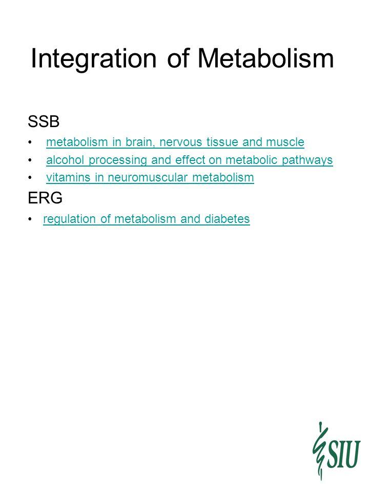 Integration of Metabolism