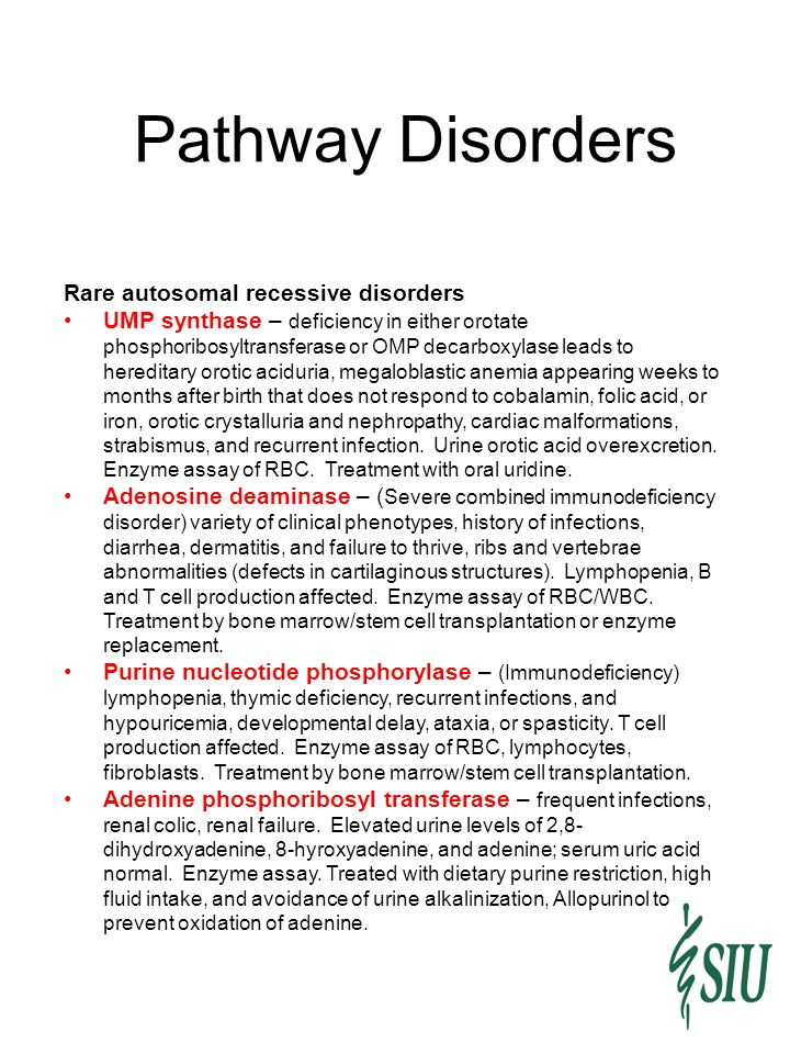 Pathway Disorders Rare autosomal recessive disorders