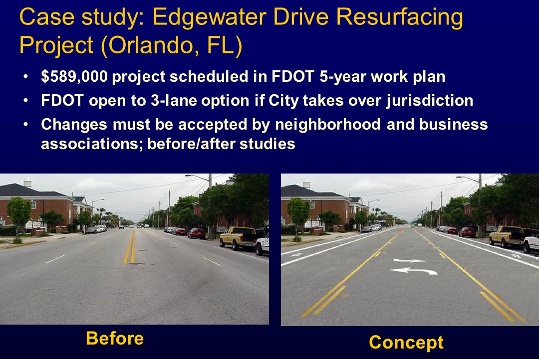 Case study: Edgewater Drive Resurfacing Project (Orlando, FL)