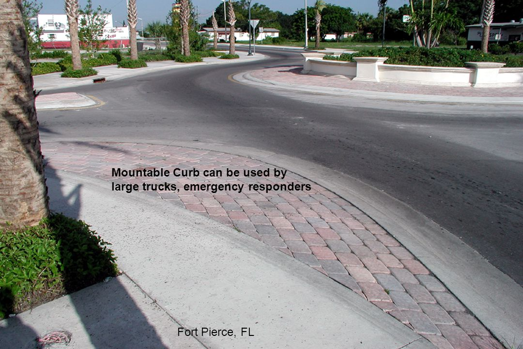 Mountable Curb can be used by large trucks, emergency responders