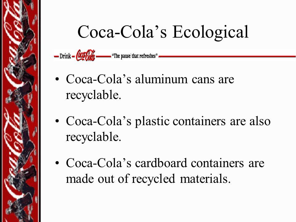 Coca-Cola's Ecological