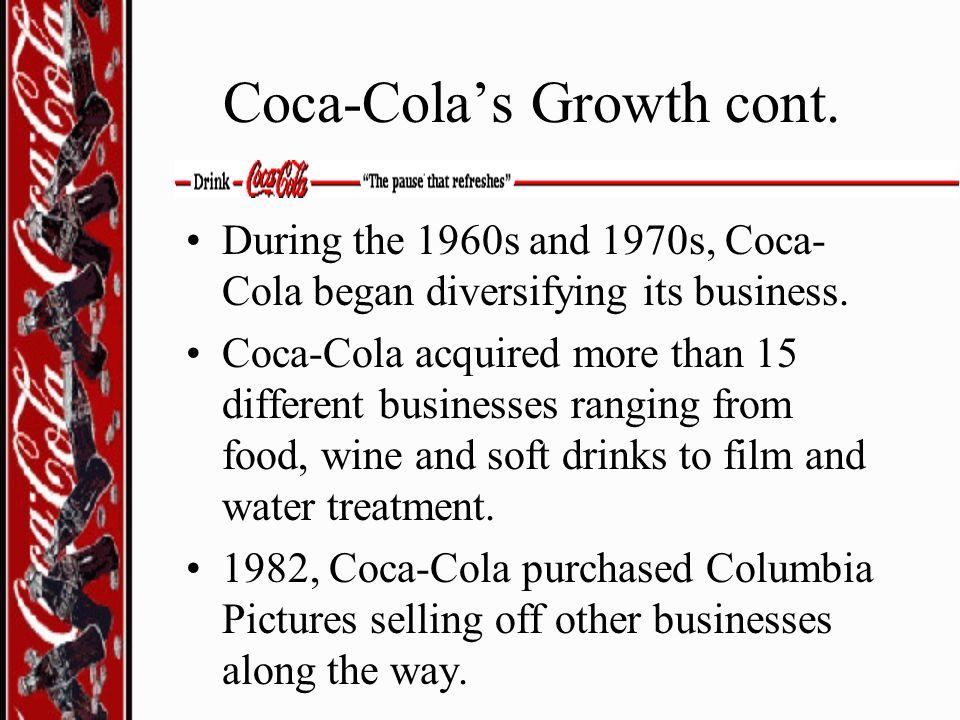 Coca-Cola's Growth cont.