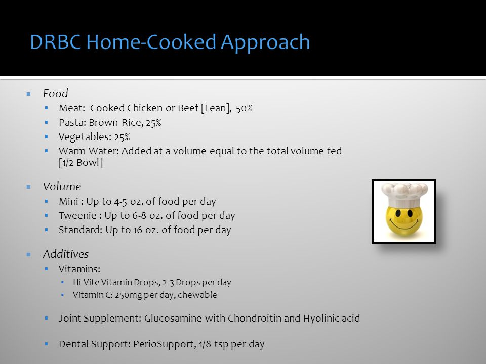 DRBC Home-Cooked Approach