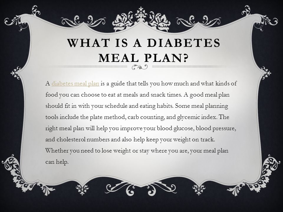 What is a Diabetes Meal Plan