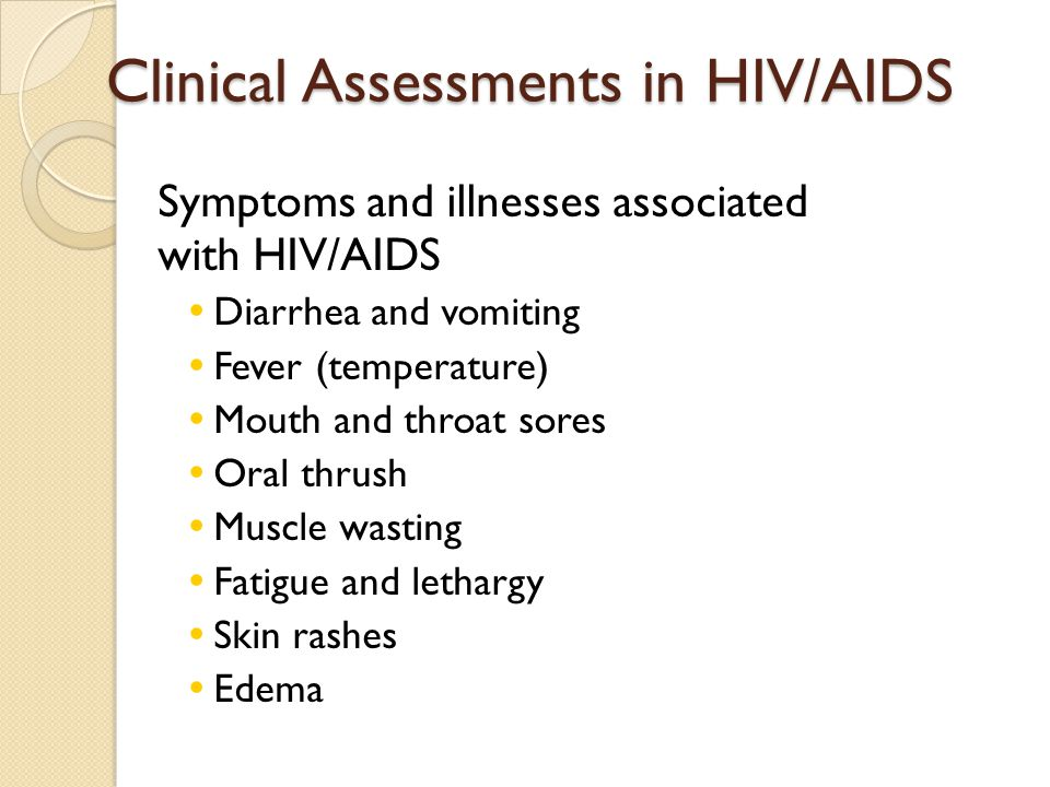 Clinical Assessments in HIV/AIDS