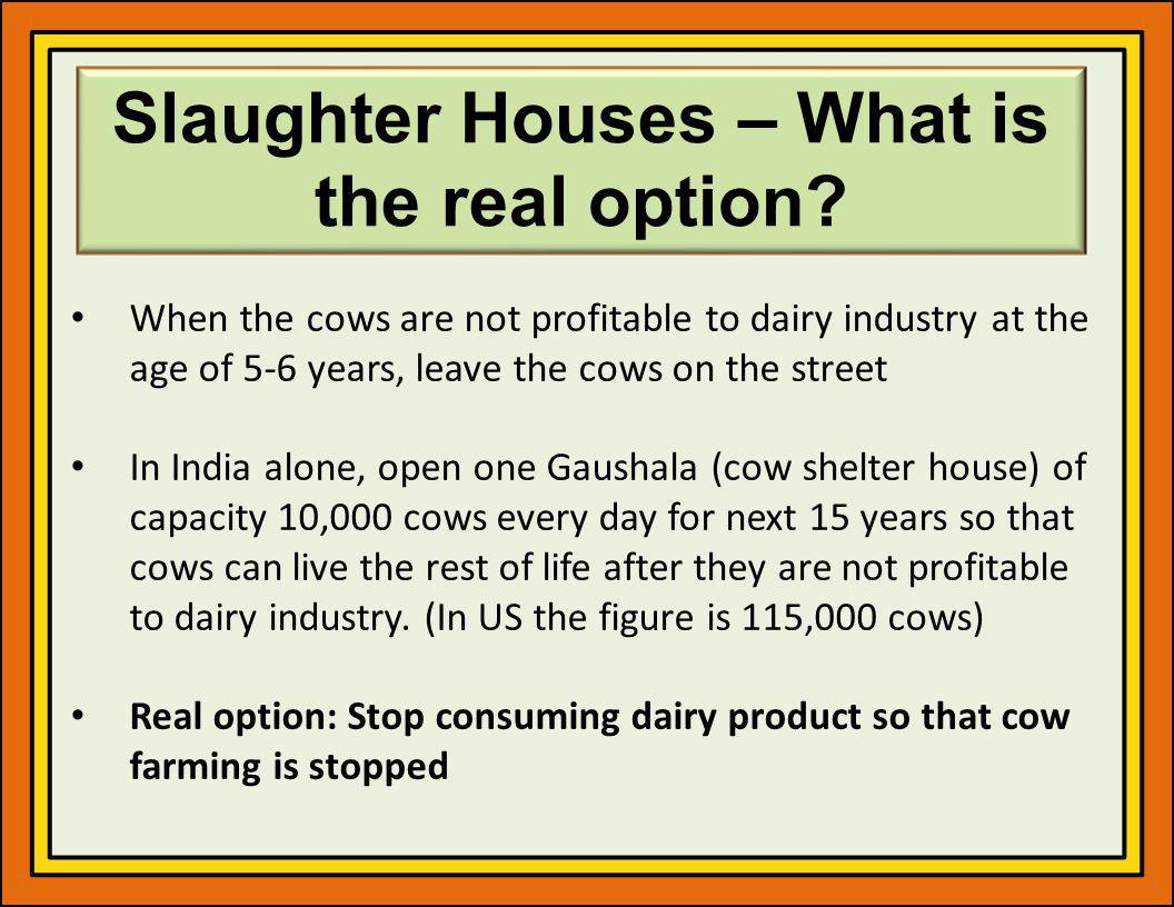 Slaughter Houses – What is the real option