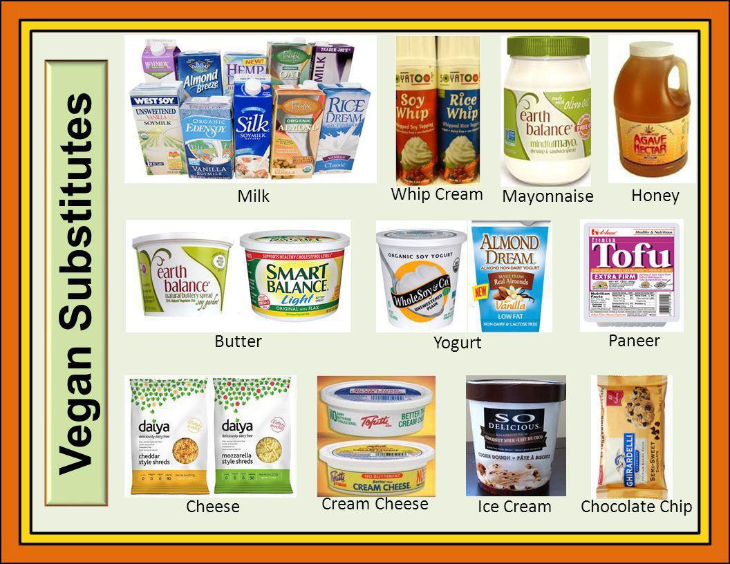 Vegan Substitutes Milk Whip Cream Mayonnaise Honey Butter Yogurt