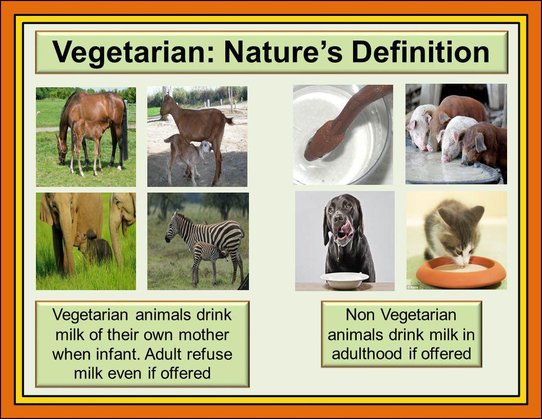 Vegetarian: Nature's Definition
