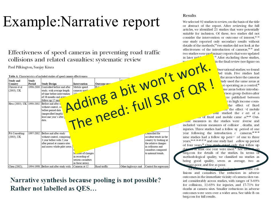 Example:Narrative report