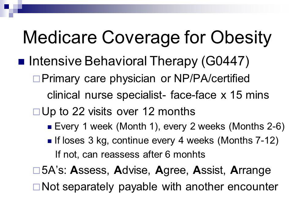 Medicare Coverage for Obesity