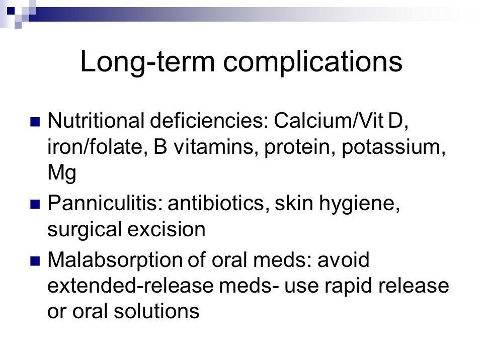 Long-term complications