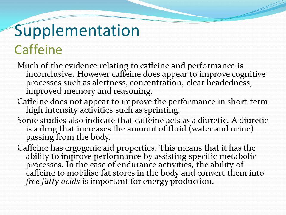 Supplementation Caffeine