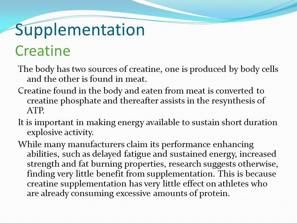 Supplementation Creatine