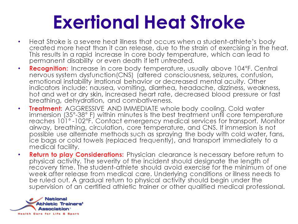 Exertional Heat Stroke