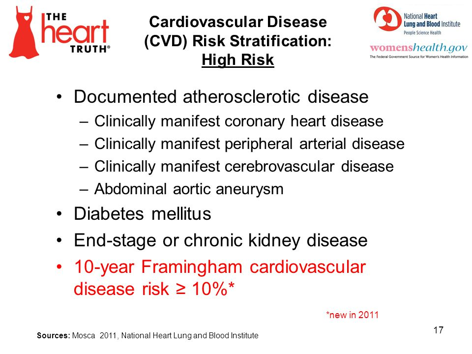 Cardiovascular Disease (CVD) Risk Stratification: High Risk