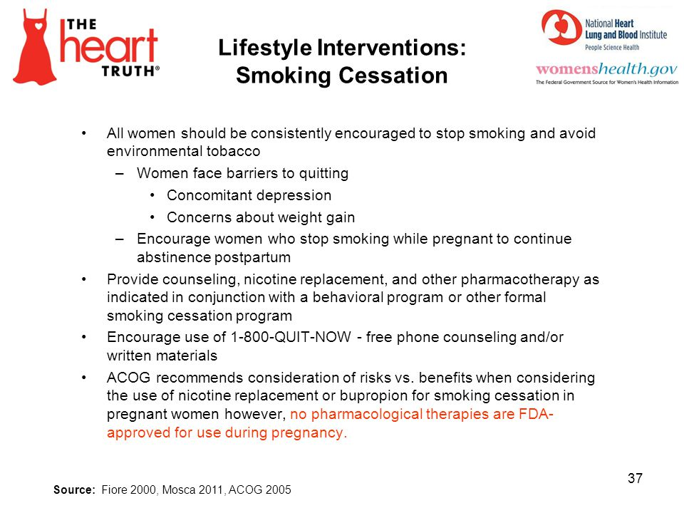 Lifestyle Interventions: Smoking Cessation