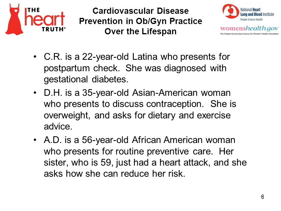 Cardiovascular Disease Prevention in Ob/Gyn Practice Over the Lifespan