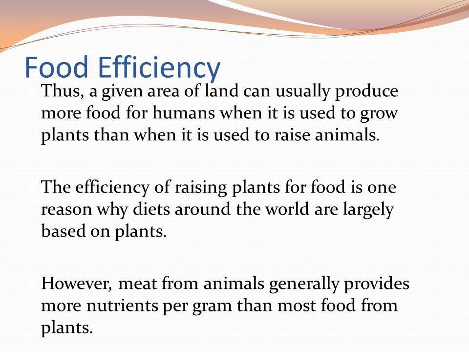 Food Efficiency