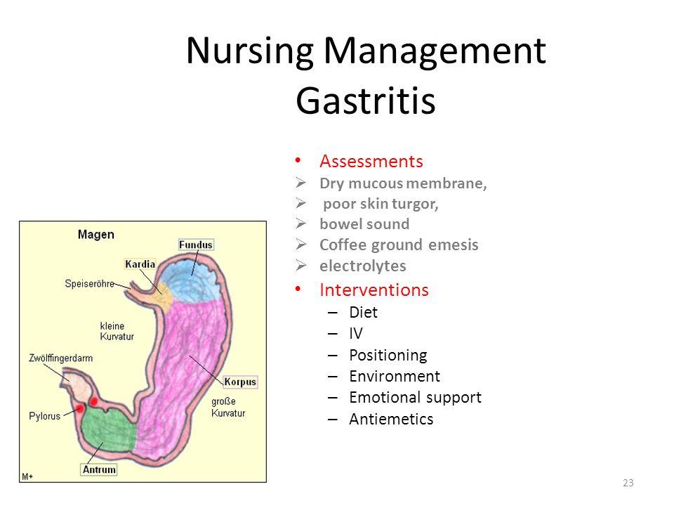 Nursing Management Gastritis