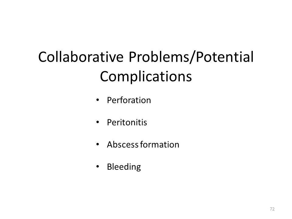Collaborative Problems/Potential Complications
