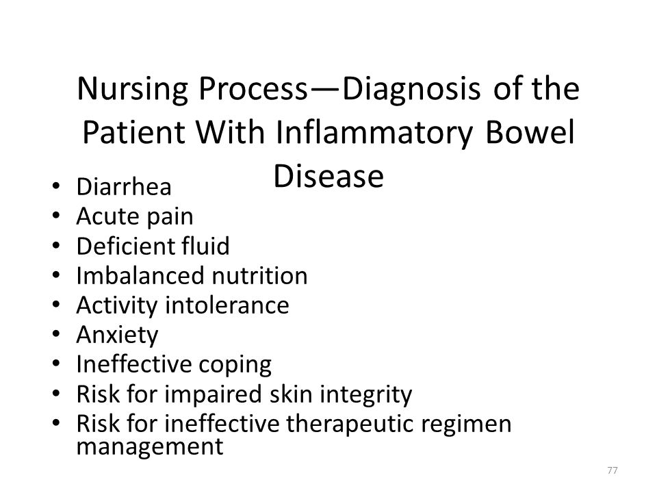 Nursing Process—Diagnosis of the Patient With Inflammatory Bowel Disease